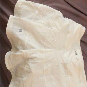 White lulu lemon tennis skirt
